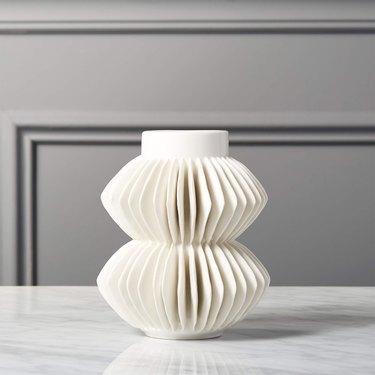 CB2 Celia White Vase
