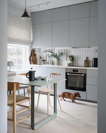 gray ikea kitchen cabinets