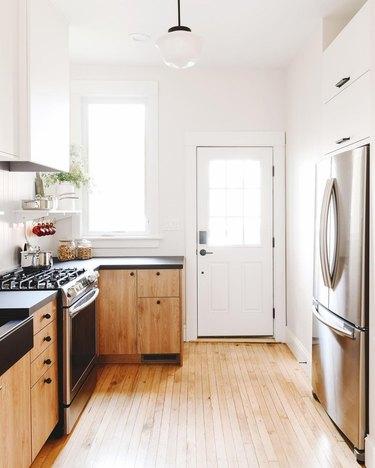 two-tone ikea kitchen