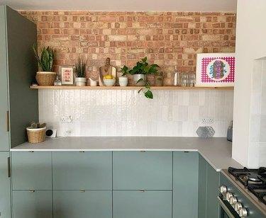 ikea green kitchen cabinets