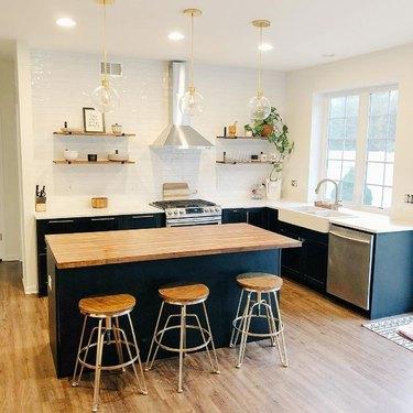 black ikea cabinets kitchen