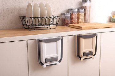 collapsible over the cabinet trash can