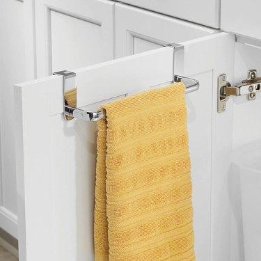 over the cabinet door towel rack
