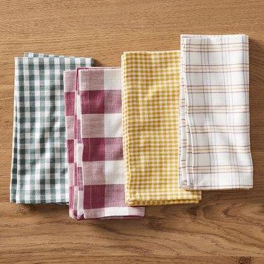 striped, gingham, plaid napkins