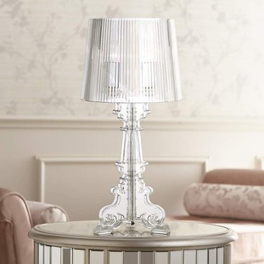 clear plastic table lamp