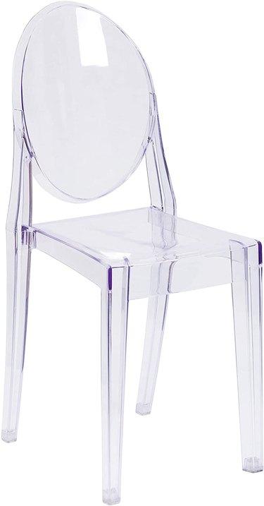 clear acrylic Louis XVI chair