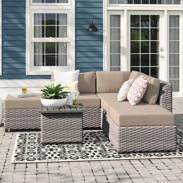 wicker outdoor patio set