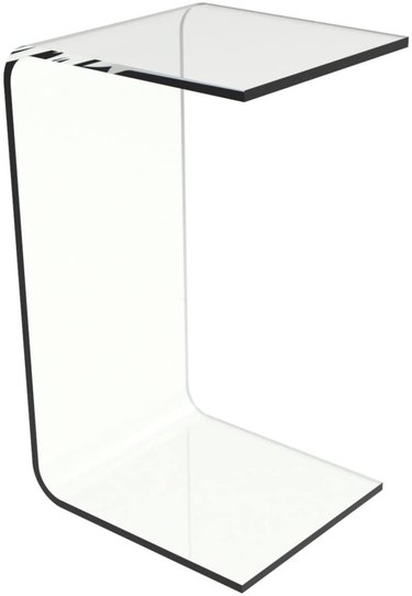 clear plastic c-style table