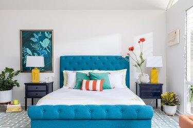 colorful bedroom setup