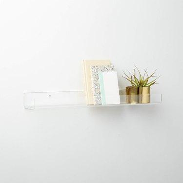 clear plastic floating shelf