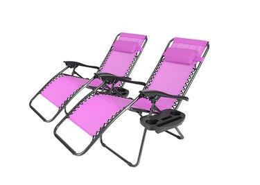 Walmart Geniqua 2 PC Zero Gravity Lounge Chairs