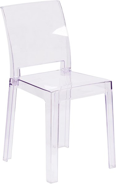 acrylic ghost chair with square back