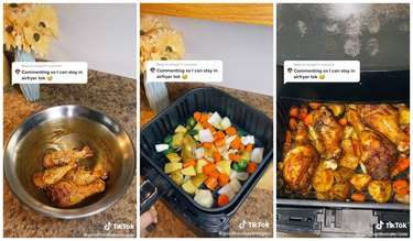 baked chicken and veggie air fryer