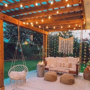 hammock seating area outside