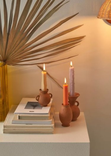 Urban Outfitters Vase-Shaped Taper Candle Holder