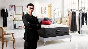 christian siriano with beautyrest mattress