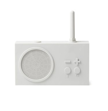 White Radio and Speaker