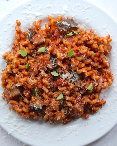 The Hungry Hutch Pasta with Eggplant, Tomato, and Olive Sauce