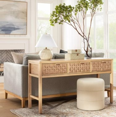 Target Palmdale Woven Drawer Console Natural - Threshold™