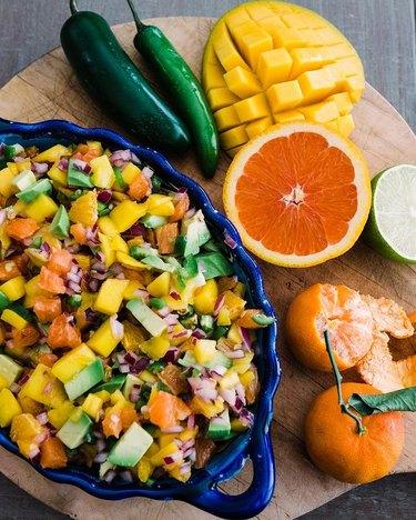 Muy Bueno Cookbook Orange, Avocado, and Mango Salsa
