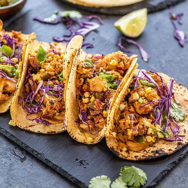 Cook with Manali Cauliflower, Corn, and Poblano Tacos With Cashew Chipotle Sauce