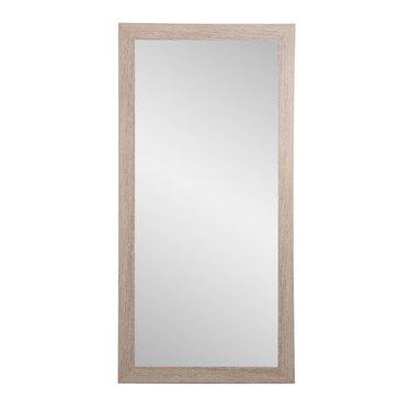 Farmhouse Barnwood Framed Floor Leaning Tall Mirror