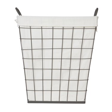 Better Homes & Gardens Antique Gray Wire Clothes Hamper with Liner
