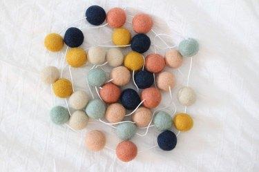 """Arizona"" Handmade Wool Felt Ball Garland"