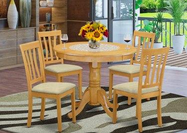 East West Furniture 5-piece Dining Set