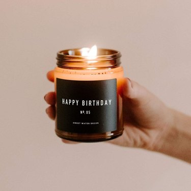 Sweet Water Decor, Happy Birthday Soy Wax Candle