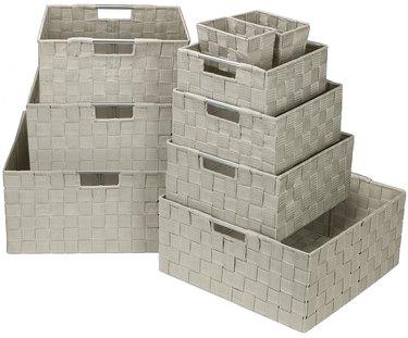 Sorbus Storage Box Woven Basket Bin Set