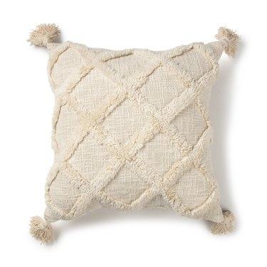 Better Homes & Gardens Tufted Trellis Decorative Square Throw Pillow