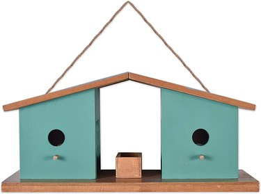 midcentury modern birdhouse