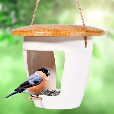 bamboo fly through birdhouse