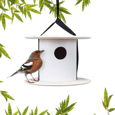 two tiered modern birdhouse