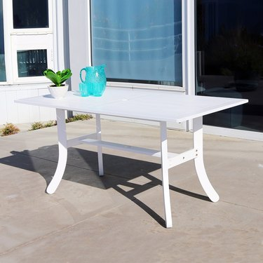 VIFAH Bradley Outdoor Wood Rectangular Dining Table