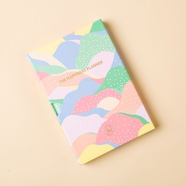 colorful hardcover wellness diary