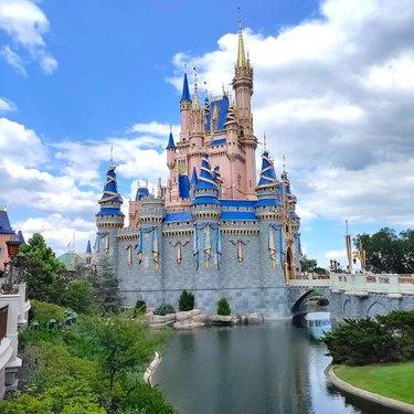 disney world castle and lake