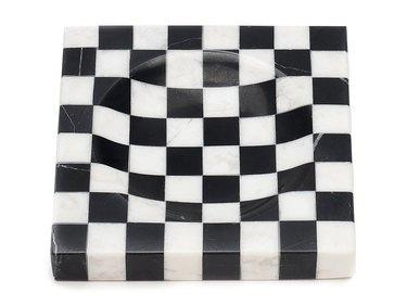 Tetra Checkered Marble Ashtray