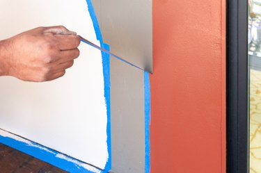 Peeling off painter's tape