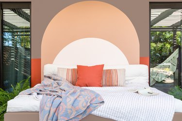 Outdoor mural over daybed