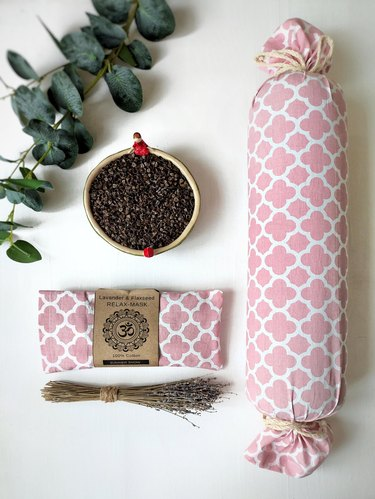 buckwheat lavender yoga bolster pillow
