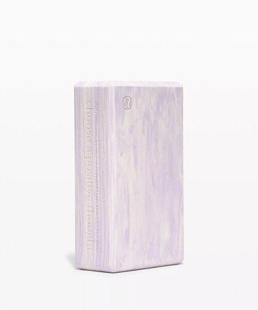marbleized yoga block