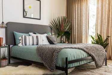 chic and cozy guest room