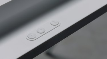 close-up photo of volume buttons