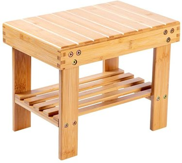 tiered bamboo stool side table