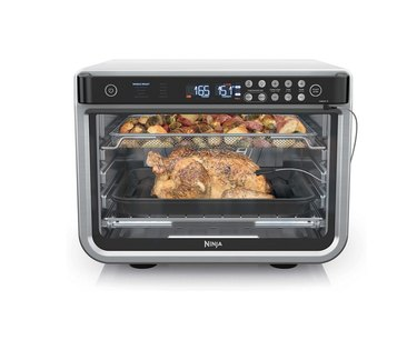 Air fry oven with chicken in it