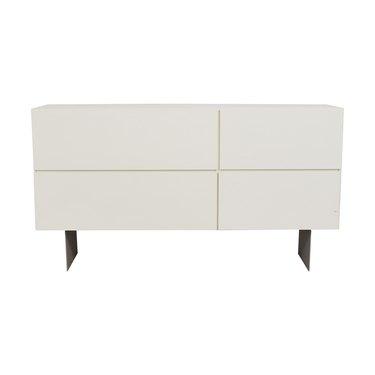 white sideboard with dark legs