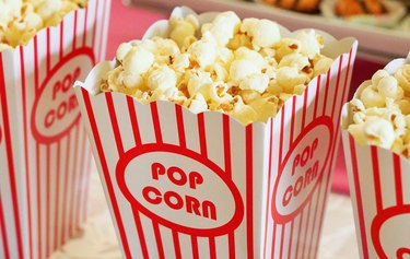 buttered movie popcorn