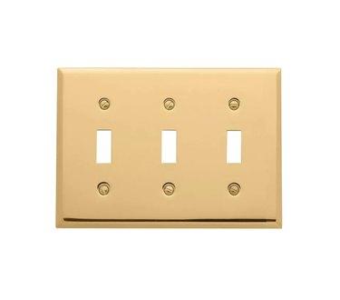 Polished Brass Light Switch Plates